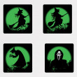 Stock vektor: Halloween icons set_2, vector wallpaper