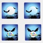 Halloween icons set_4, vector wallpaper — Stock Vector