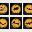 Halloween icons set_8, vector wallpaper — Stock Vector