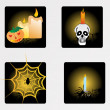 Stock vektor: Halloween icons set_9, vector wallpaper