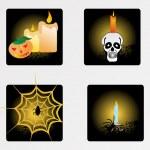 Halloween icons set_9, vector wallpaper — Stock Vector