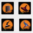 Stock vektor: Halloween icons set_13