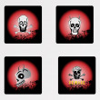 Stock vektor: Halloween icons set_12