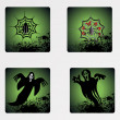 Stock vektor: Halloween icons set_14