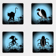 Stock vektor: Halloween icons set_15