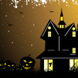 Grungy halloween background — Stockvektor