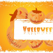 Grungy halloween background with pumpkin — Stockvektor