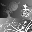 Halloween black background illustration — Stockvektor