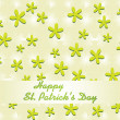 Illustration shamrock background — Stock Vector