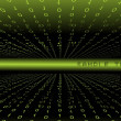 Green binary background - Imagen vectorial