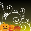 Halloween scene background — Stock Vector