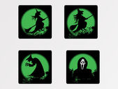 Halloween icons set_2, vector wallpaper — Stock Vector