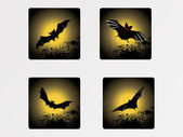 Halloween icons set_5, vector wallpaper — Stock Vector