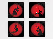 Halloween icons set_7, vector wallpaper — Vector de stock