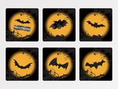 Halloween icons set_8, vector wallpaper — Vector de stock