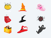 Halloween icons set_10, vector wallpaper — 图库矢量图片