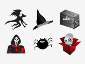 Halloween iconos set_11, vector wallpaper — Vector de stock