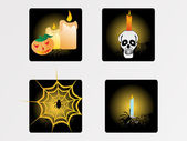 Halloween icons set_9, vector wallpaper — Vector de stock