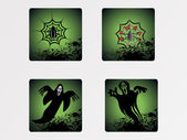 Halloween icons set_14 — Vector de stock
