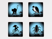 Halloween icons set_15 — Vector de stock