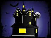 Halloween cityscape background — Stock Vector