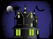 Halloween cityscape background — Vector de stock