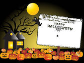 Halloween background with banner — Stock Vector