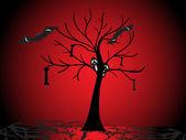 Halloween backgrouns tapeta — Stock vektor