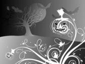 Halloween black background illustration — Stock Vector