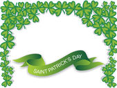Green banner, saint patrick day — Stock Vector