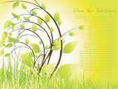 Garden background illustration — Stock Vector