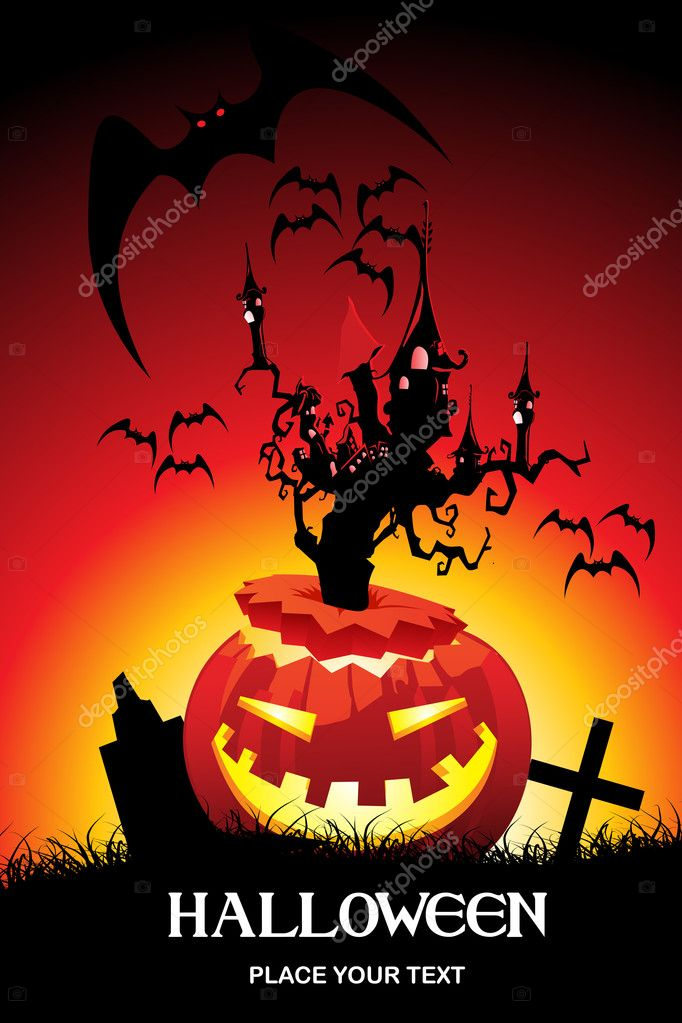 Abstract pattern halloween background. vector illustration — Stock Vector #2734700
