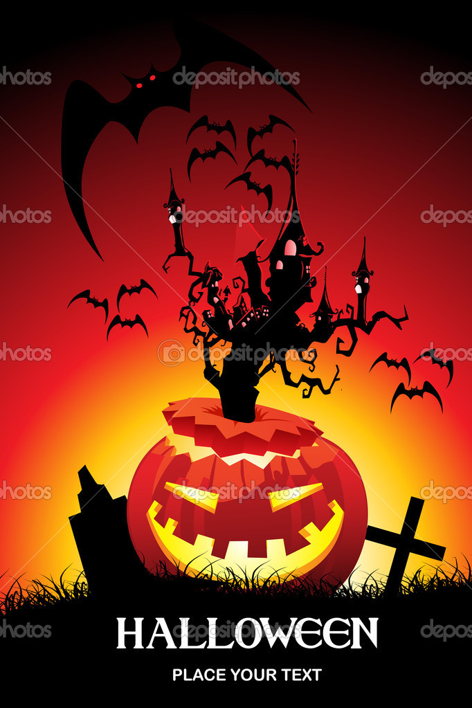 Abstract pattern halloween background. vector illustration — Stock vektor #2734700