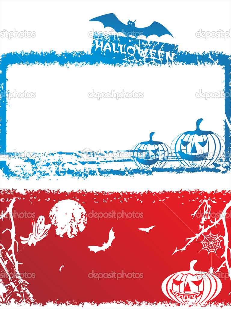 Halloween grunge frame, illustration — Stock Vector #2734805