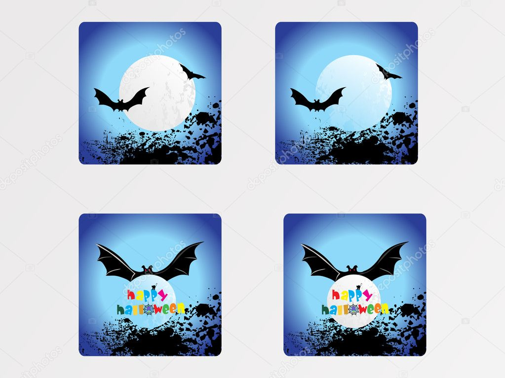 Halloween icons set_4, vector wallpaper  Stock Vector #2734810