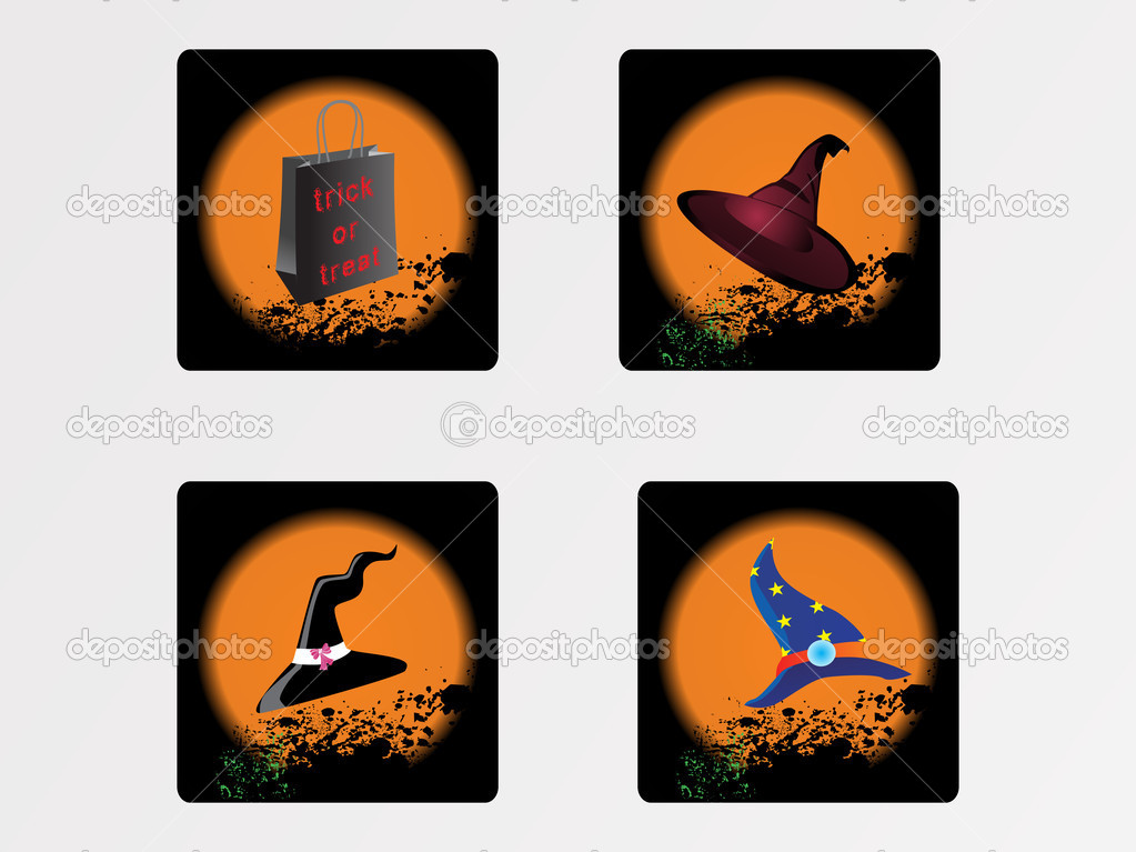 Halloween icons set_13, vector wallpaper  Stock Vector #2734845