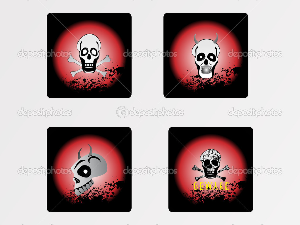 Halloween icons set_12, vector wallpaper  Stock Vector #2734849