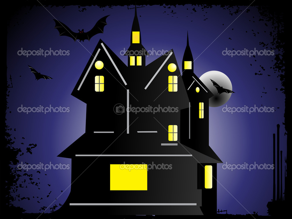 Halloween cityscape background_2, wallpaper — Stock Vector #2736407