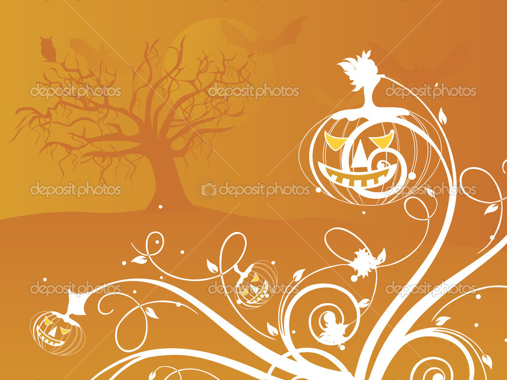 Halloween orange background illustration — Stock Vector #2736424