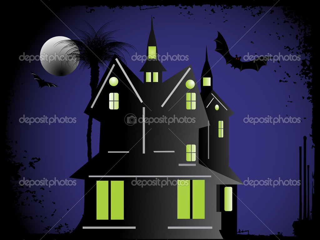 Halloween cityscape background, wallpaper — Stock Vector #2736790