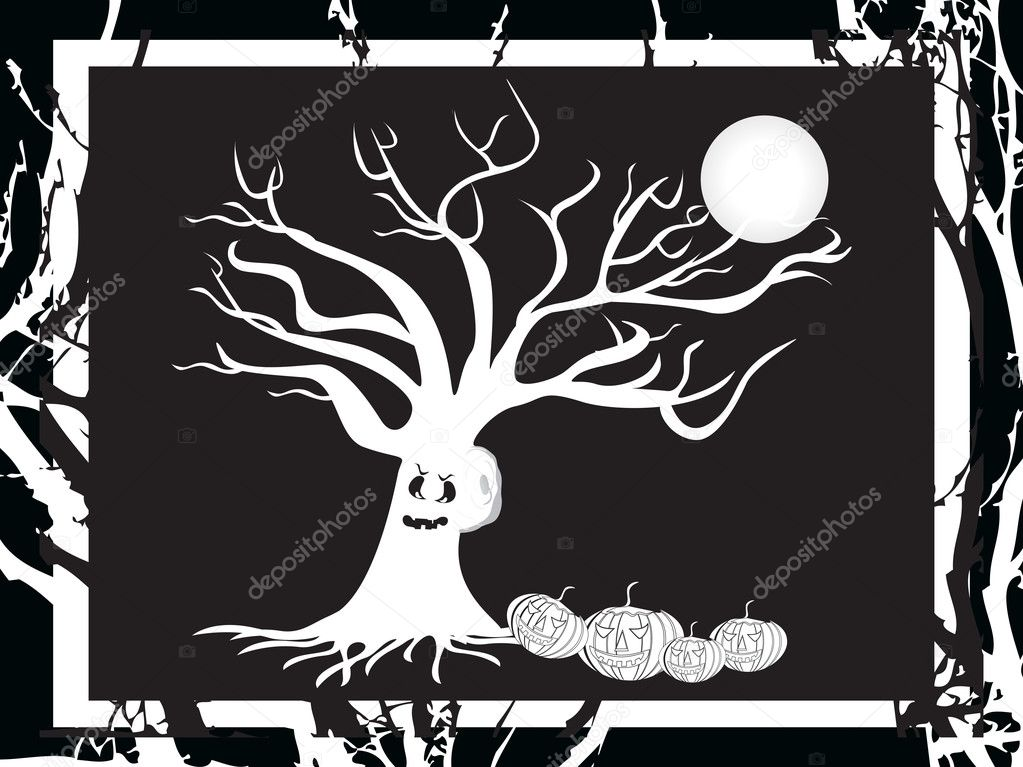 Halloween bakground, vector wallpaper  Stock Vector #2736873
