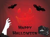 Ilustracja na tle halloween — Zdjęcie stockowe