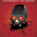 Vector isolated skull on grunge — Stock Vector #2784971
