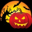 Beautiful pattern halloween background — 图库矢量图片