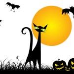 Wallpaper for halloween celebration — Stock Vector