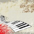 Royalty-Free Stock Векторное изображение: Grunge background of piano
