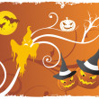 Funky halloween cartoon - Stockvektor