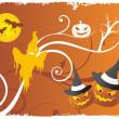 Funky halloween cartoon — Stock Vector #2787382