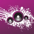Grunge purple party speaker — Stock Vector