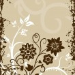 Stock Vector: Grungy border background with filigree